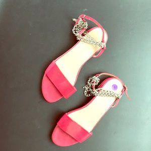 Stuart Weizmann red sandals